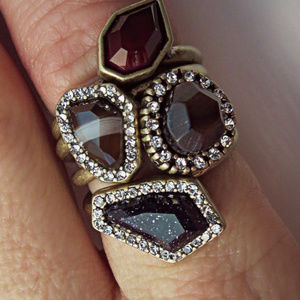 Chloe + Isabel Jewelry - Chloe and Isabel Rebel Ring Set Size 9